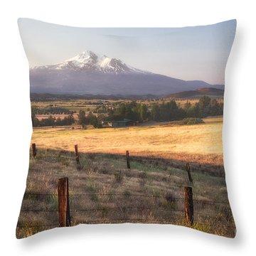 Sunrise Mount Shasta Throw Pillow