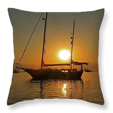 Sunrise Throw Pillow by Nicola Fiscarelli
