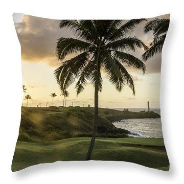Sunrise Ninini Point, Kauai Throw Pillow