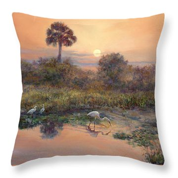 Lake Okeechobee Throw Pillows