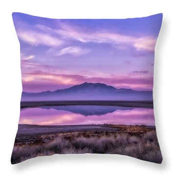 Throw Pillow featuring the photograph Sunrise On Antelope Island by Kristal Kraft