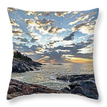 Sunrise On Christmas Cove Throw Pillow