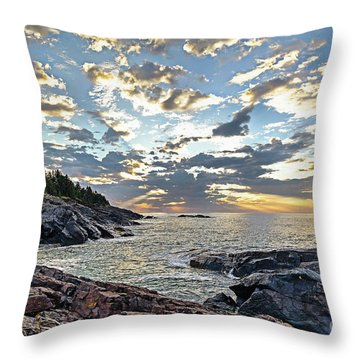 Sunrise On Christmas Cove Throw Pillow