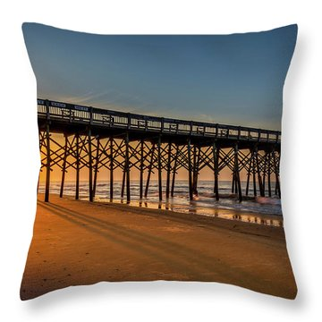 Throw Pillow featuring the photograph Sunrise On Folly Island by Rikk Flohr
