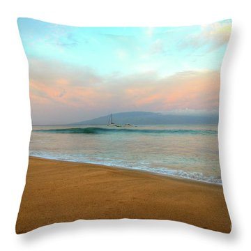 Throw Pillow featuring the photograph Sunrise On Ka'anapali by Kelly Wade