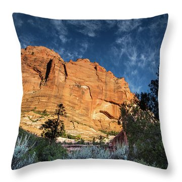 Sunrise On Kolob Arch Trail Throw Pillow