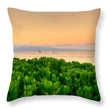 Throw Pillow featuring the photograph Sunrise On Maui by Kelly Wade