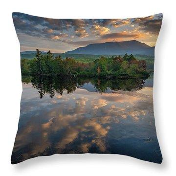 Sunrise On Mount Katahdin Throw Pillow
