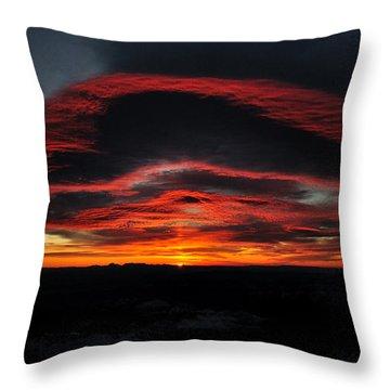 Sunrise On Rainier Throw Pillow