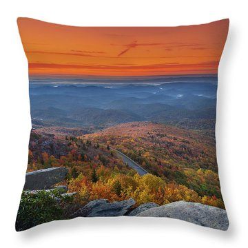 Sunrise On Rough Ridge  Throw Pillow