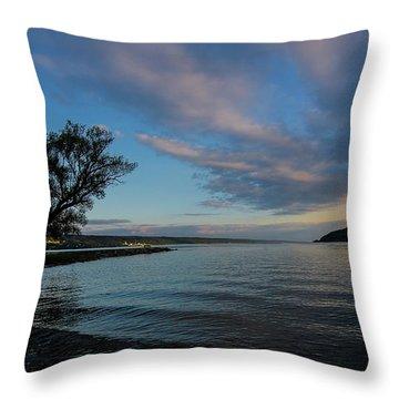 Sunrise On Seneca Lake Throw Pillow