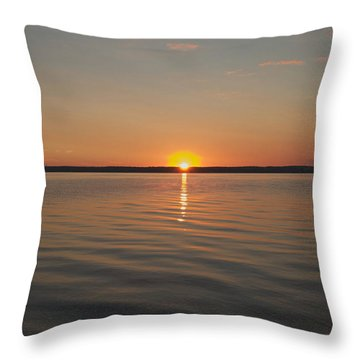 Sunrise On Seneca Lake Throw Pillow