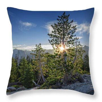 Sunrise On Sentinel Dome Throw Pillow