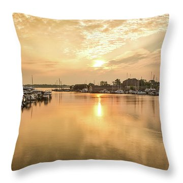 Sunrise On Spa Creek Throw Pillow