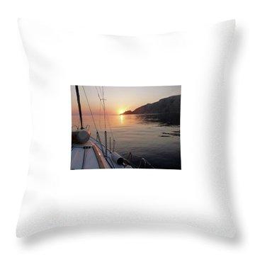 Sunrise On The Aegean Throw Pillow