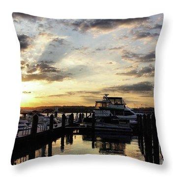 Sunrise On The Alexandria Waterfront Throw Pillow