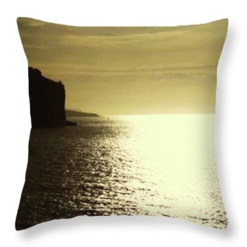 Sunrise On The Almalfi Coast Throw Pillow