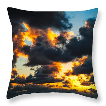 Sunrise On The Atlantic #15 Throw Pillow