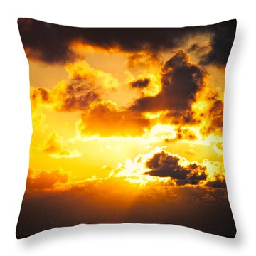 Sunrise On The Atlantic #17 Throw Pillow