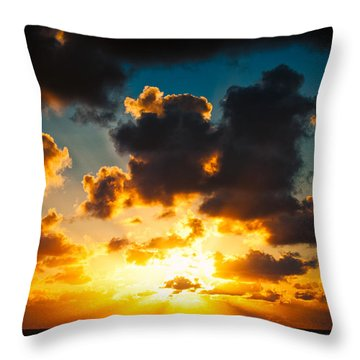 Sunrise On The Atlantic #19 Throw Pillow