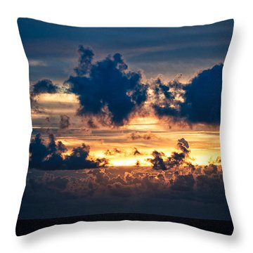 Sunrise On The Atlantic #28 Throw Pillow