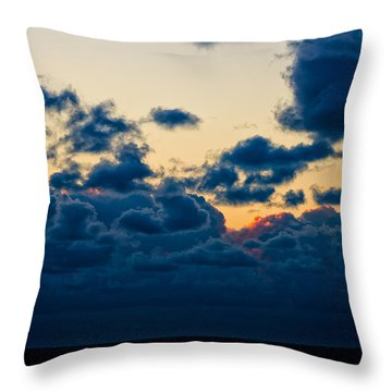 Sunrise On The Atlantic #5 Throw Pillow