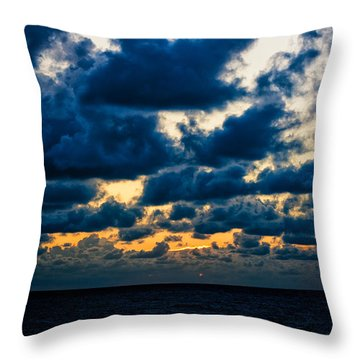 Sunrise On The Atlantic #7 Throw Pillow
