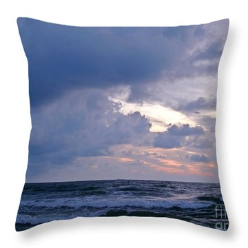 Sunrise On The Atlantic Throw Pillow