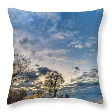 Sunrise On The Back Hill Throw Pillow