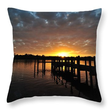 Sunrise On The Bayou Throw Pillow