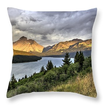 Throw Pillow featuring the photograph Sunrise On The Bitterroot River by Alan Toepfer