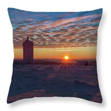 Sunrise On The Brocken, Harz Throw Pillow