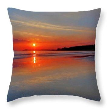Sunrise On The Coast Throw Pillow by Roy McPeak