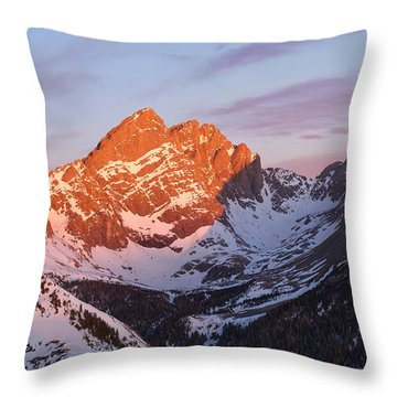 Sunrise On The Crestones  Throw Pillow by Aaron Spong