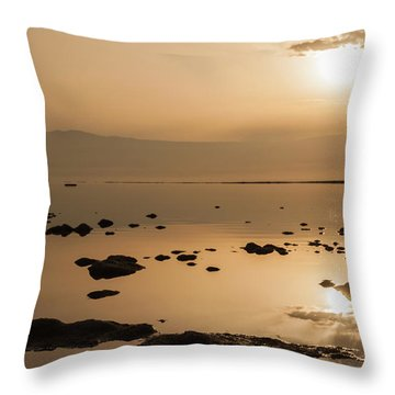 Sunrise On The Dead Sea Throw Pillow