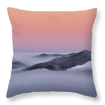Sunrise On The Dunes Throw Pillow