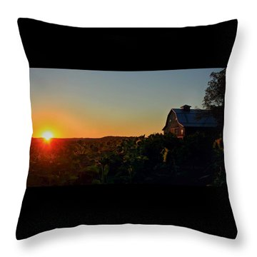 Throw Pillow featuring the photograph Sunrise On The Farm by Chris Berry