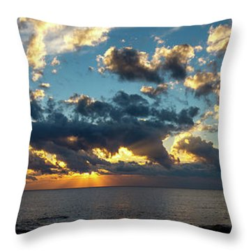Sunrise On The French Riviera Throw Pillow