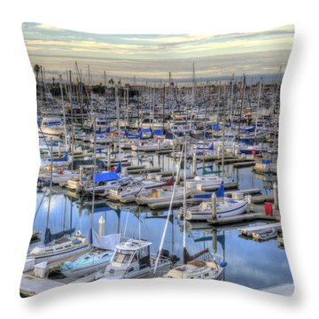 Sunrise On The Harbor Throw Pillow