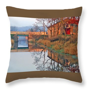 Sunrise On The I And  M Canal Throw Pillow