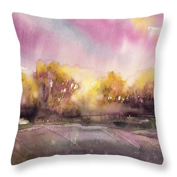 Sunrise On The Lane Throw Pillow