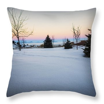 Sunrise On The Mountain Throw Pillow