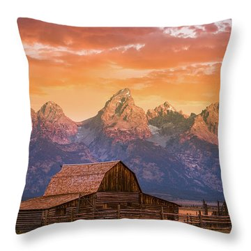 Sunrise On The Ranch Throw Pillow