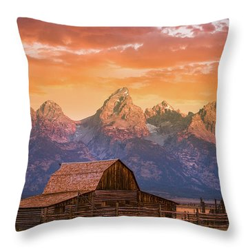 Throw Pillow featuring the photograph Sunrise On The Ranch by Darren White
