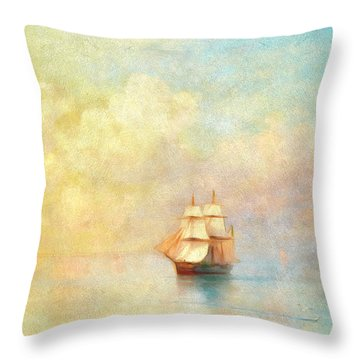 Sunrise On The Sea Throw Pillow