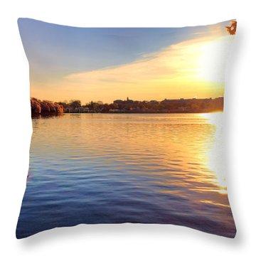 Sunrise On The Tidal Basin Throw Pillow
