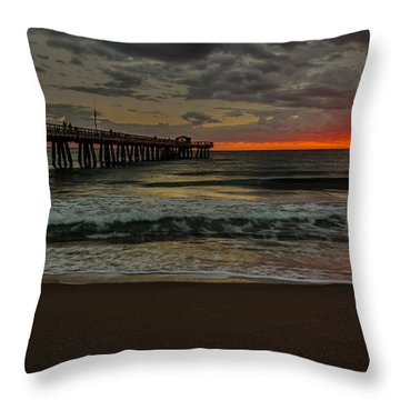 Sunrise On The Water Throw Pillow