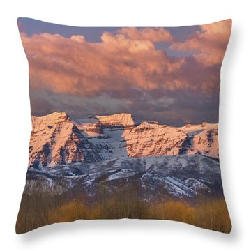 Sunrise On Timpanogos Throw Pillow