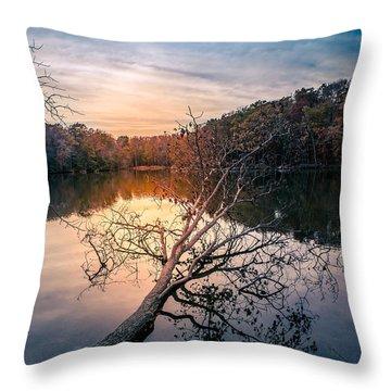 Sunrise On Triton Lake Throw Pillow