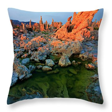 Sunrise On Tufa 2 Throw Pillow